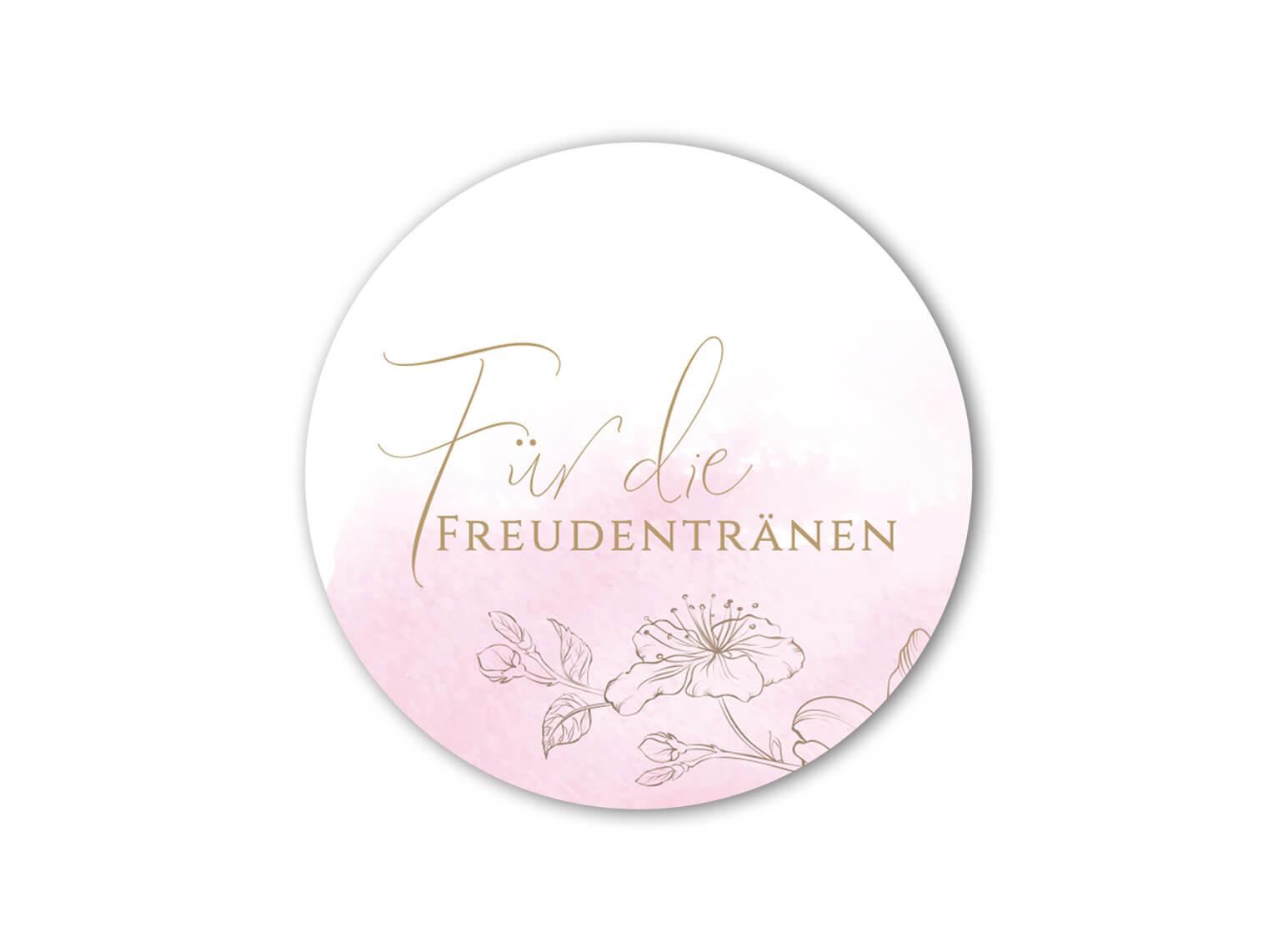 hochzeit-aufkleber-freudentraenen-rosa-aquarell-gold-blumen_rund_MP0013-3.1.1