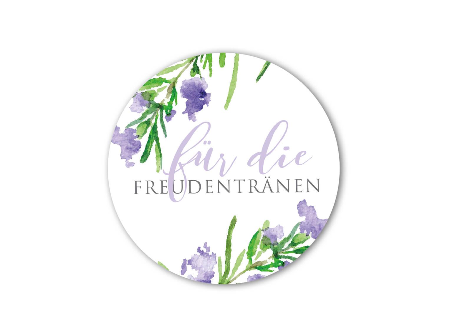 hochzeit-aufkleber-freudentraenen-aquarell-rosmarin-violet-kalligraphie-grau-gruen_rund_MP0022-3.1.1