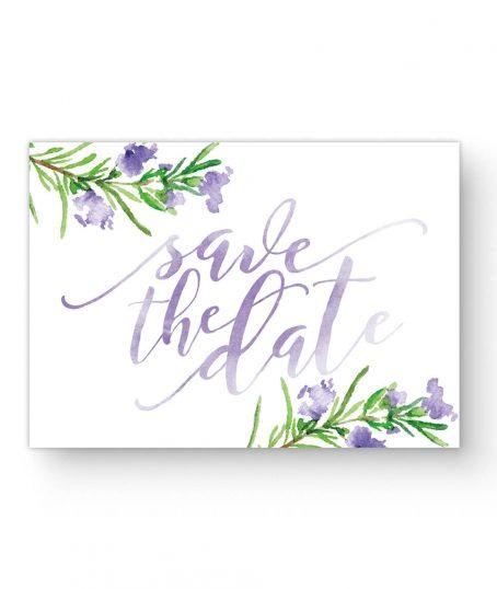 Save The Date Rosmarin Aquarell Handlettering Hochzeit