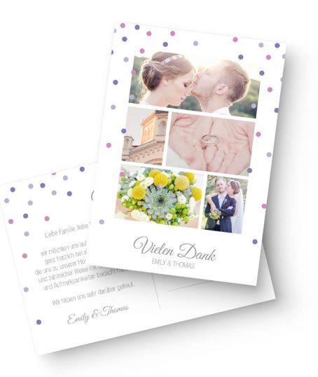 Modernes Elegantes Dankeskarten Design von Marry Paper