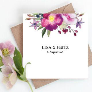 Hochzeitseinladungen, Kraftpapier, Hochzeitskarten