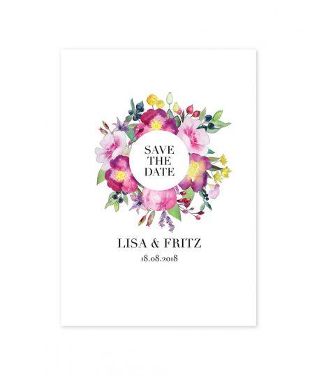 Save The Date karte | Hochzeit | Papeterie | Einladung | Aquarell Blumen